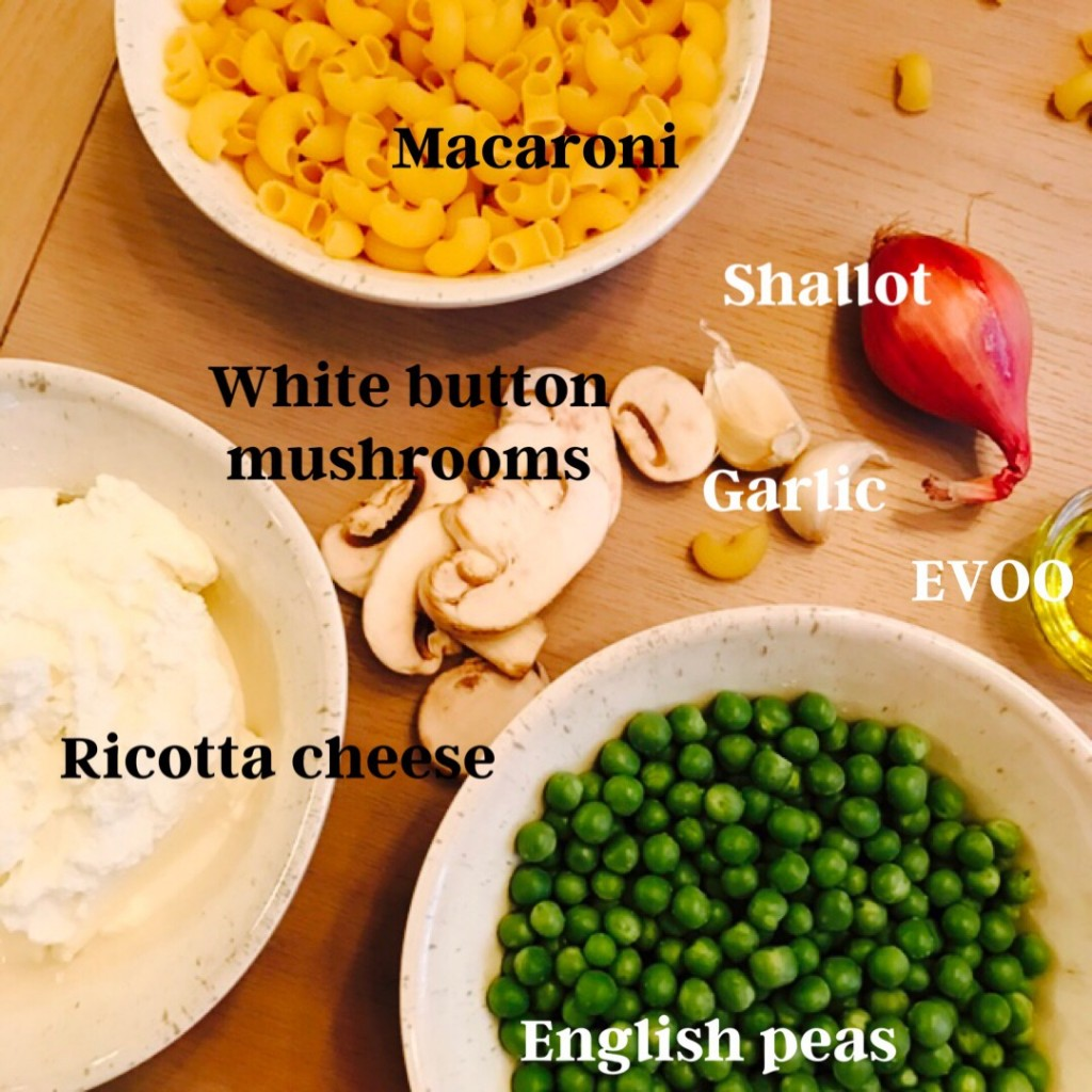macaroni and peas